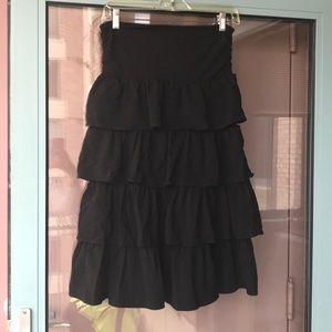 J.Crew black ruffle dress. Size medium.